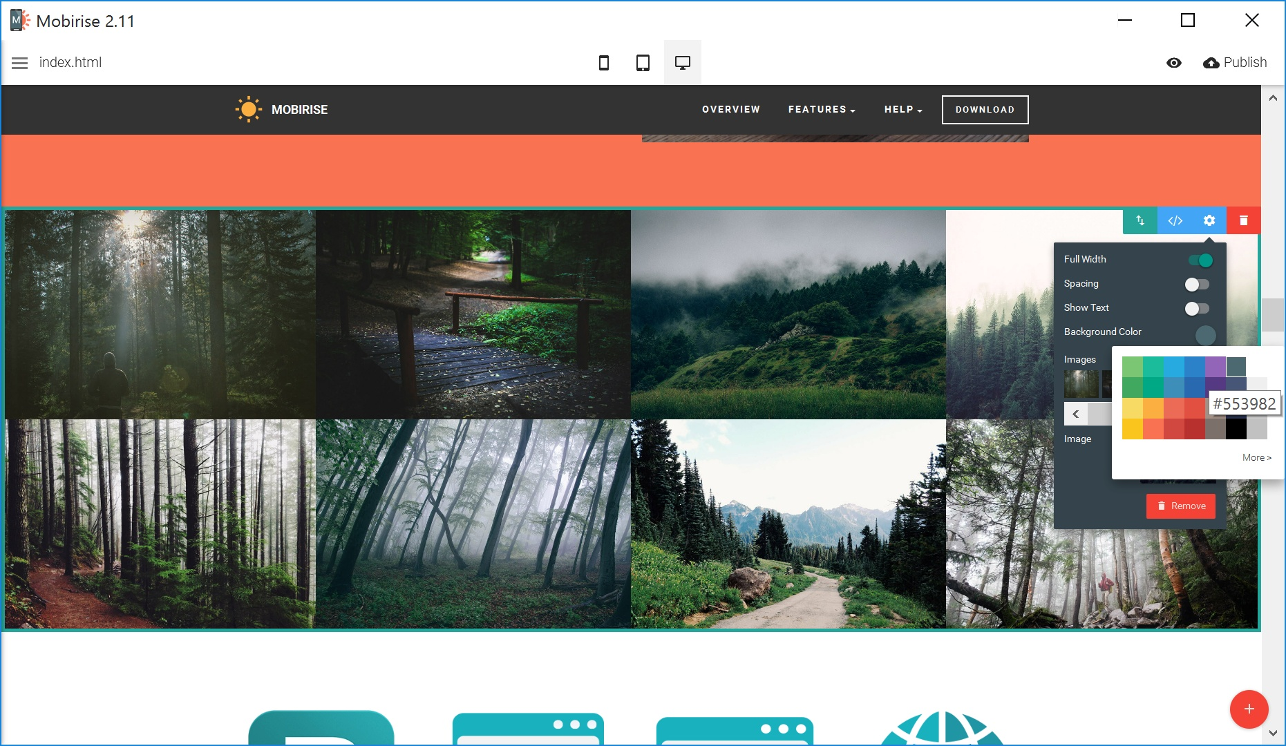 Quick and Easy Website Builder Tool