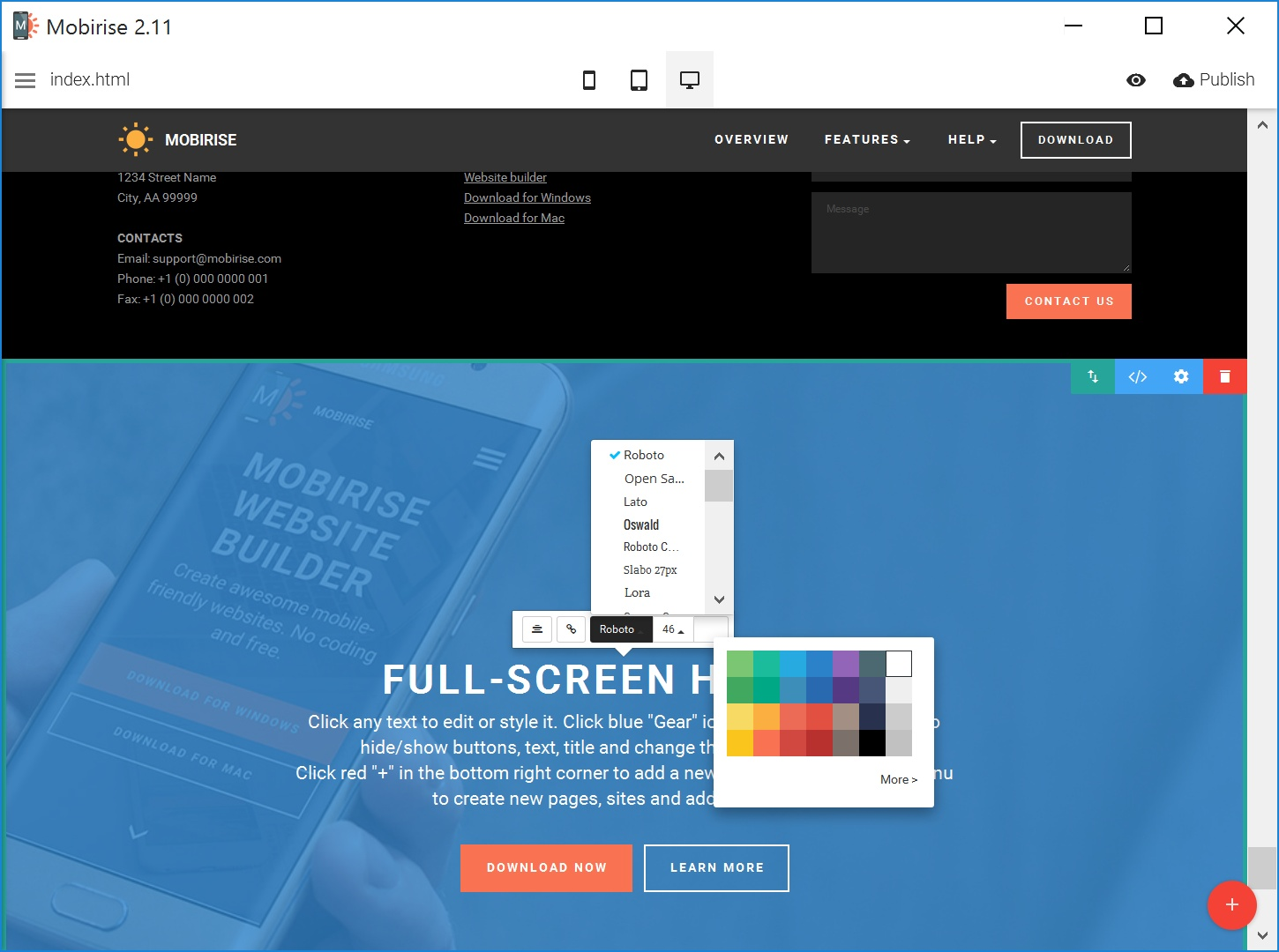 Simple HTML Web Page  Builder