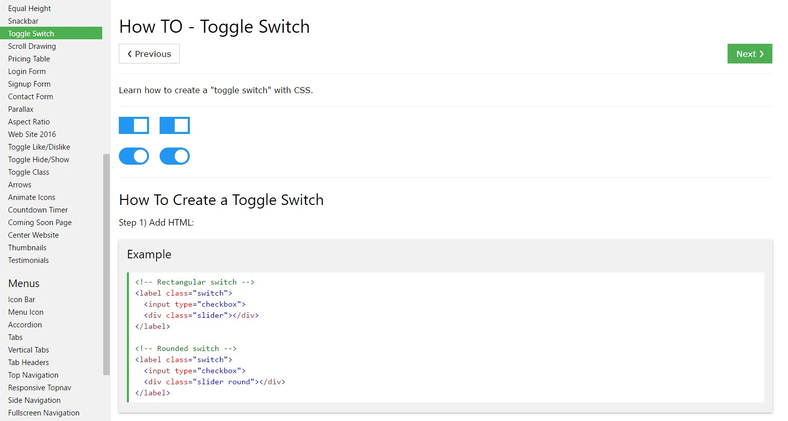 The best ways to  generate Toggle Switch