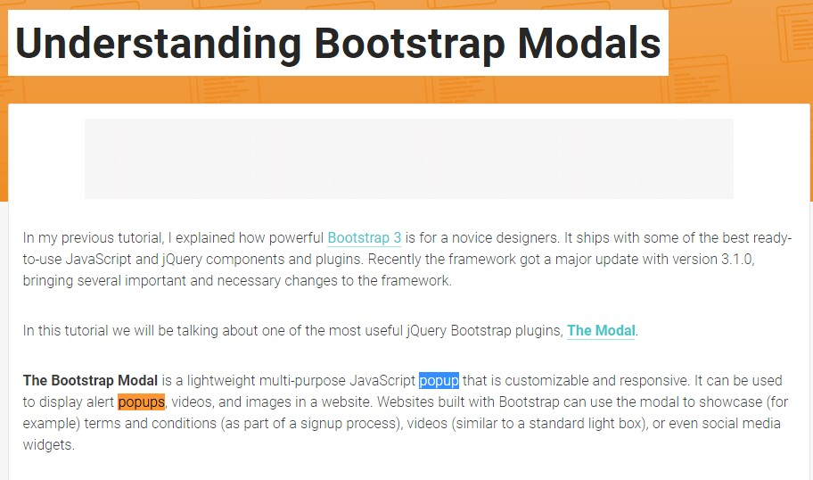 An additional  practical  post  concerning Bootstrap Modal Popup