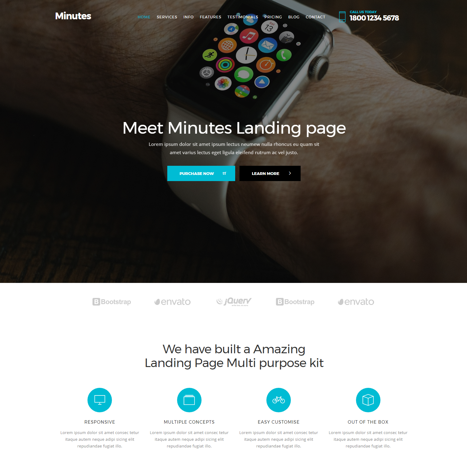 HTML Bootstrap Minutes Themes