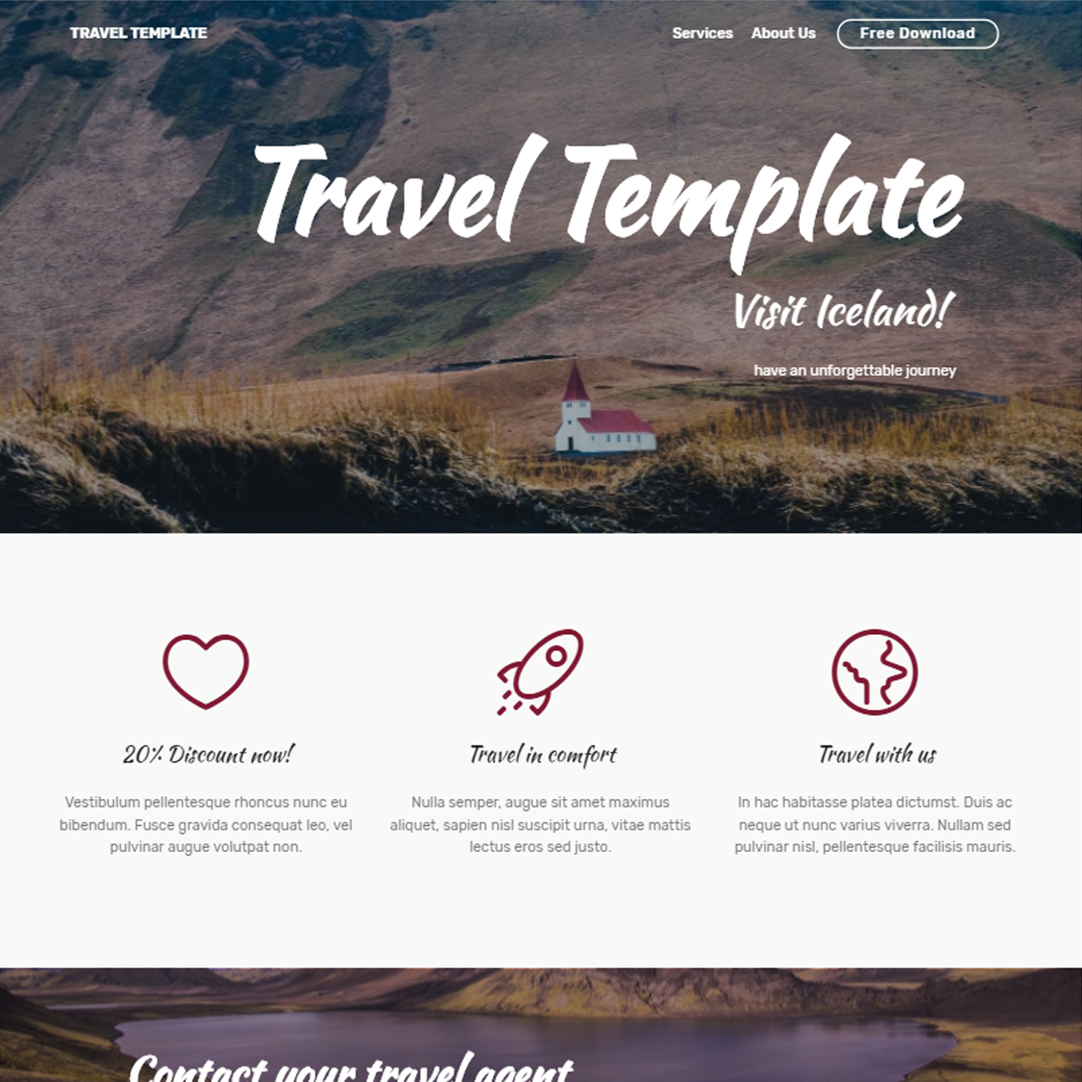 CSS3 Bootstrap Travel Themes